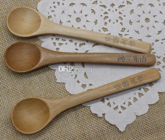 Fashion Hot Japanese Korean Tableware Handle Coffee Wooden Spoon Honey spoon baby Feeding