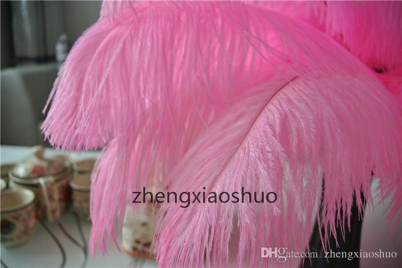Prefeito LUZ ROSA Pena de Avestruz 14-16 polegada 35-40 cm, Casamento Centrais, decoração de Casamento decoração de festa de fornecimento de decoração para casa decoração