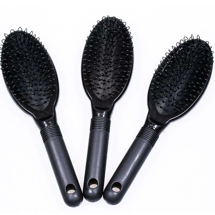 Pettine capelli Spazzola capelli Spazzola capelli COLORE NERO estensioni di capelli umani o parrucche / strumento salone di bellezza
