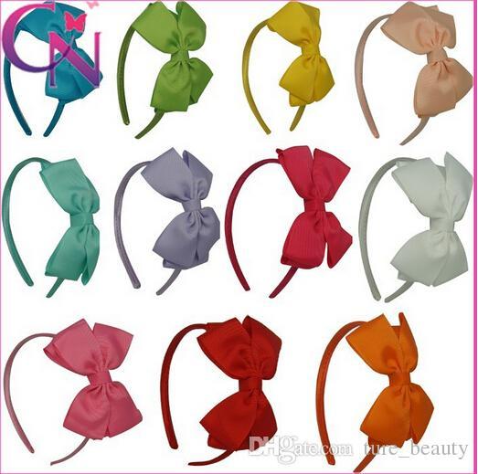 Haute Qualité Gros-Grain Ruban Hairband Bébé Fille Mignon Bandeaux À La Main Bandeau Pour Bébé Filles Cheveux Accessoires