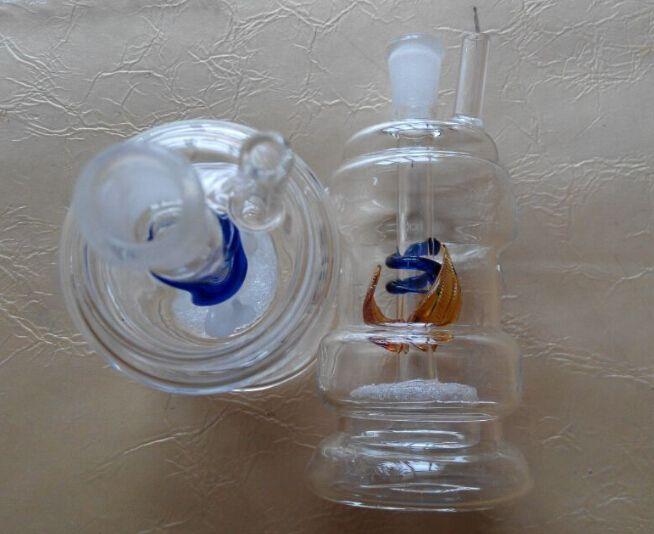 Frete grátis em todo o mundo tubulações de água montagem de filtros de vidro narguilé 10 peças / lote