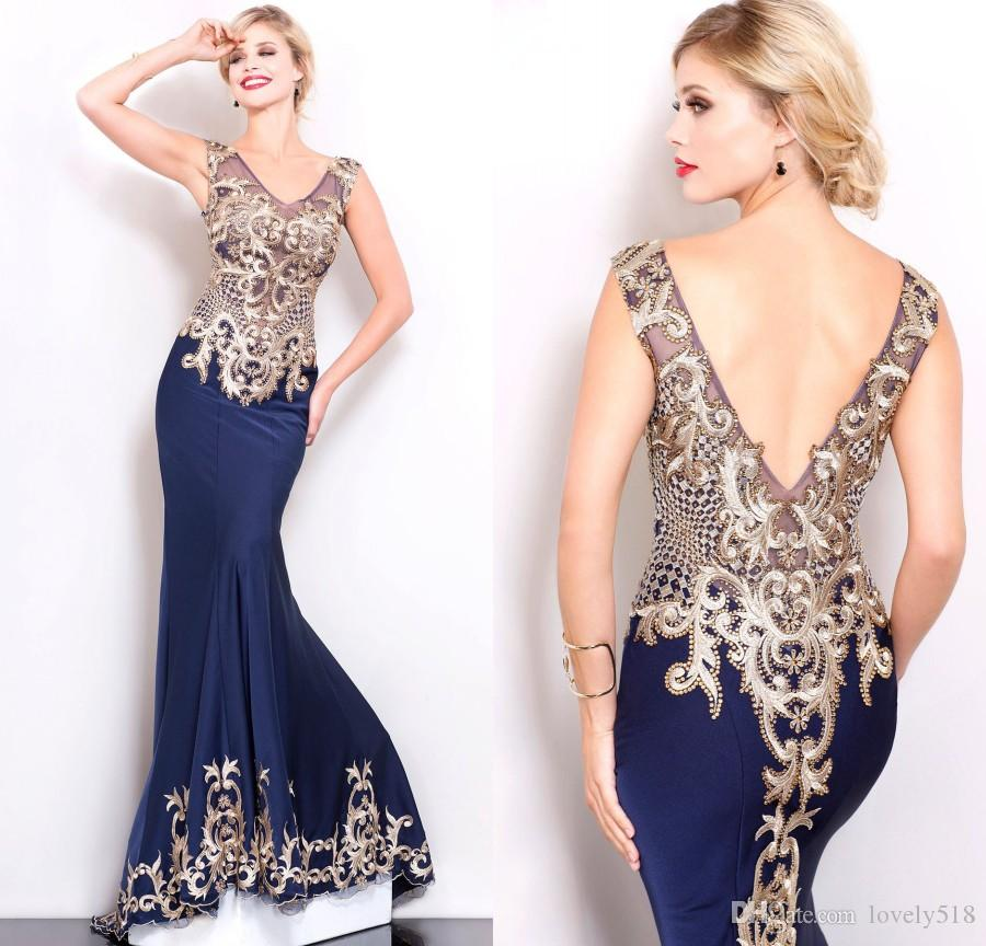 cc4c38d802e Custom Shail K Couture Evening Dress Long Mermaid V Neck Embroidery Beads  Backless Red Carpet Prom Gowns Special Occasion Dresses For Women Gowns For  Women ...