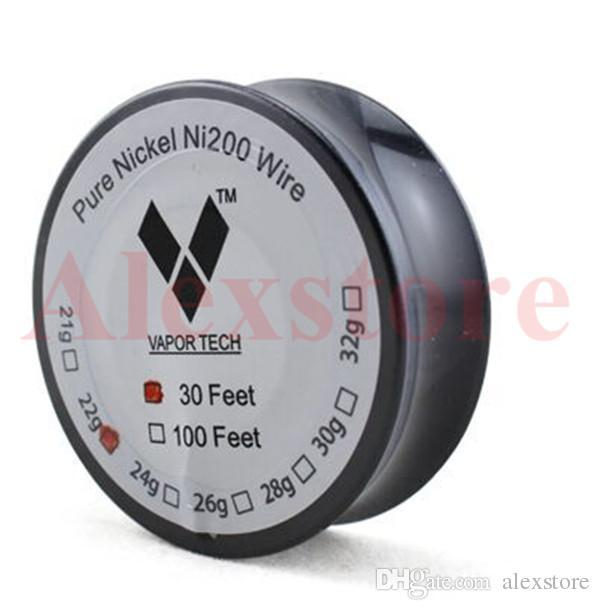 Original pure nickel ni200 wire heating resistance coil wick 30 feet original pure nickel ni200 wire heating resistance coil wick 30 feet spool awg 22 24 26 28 30 32 gauge for diy rda rba atomizer dna 40 dhl nichrome wire keyboard keysfo Image collections