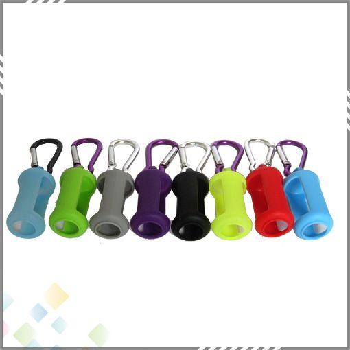 Bouteille liquide Soft E Cig Pouch Cover Silicone Housse de protection cas coloré Protecteur de peau en caoutchouc souple pour E Cig bouteilles DHL gratuit