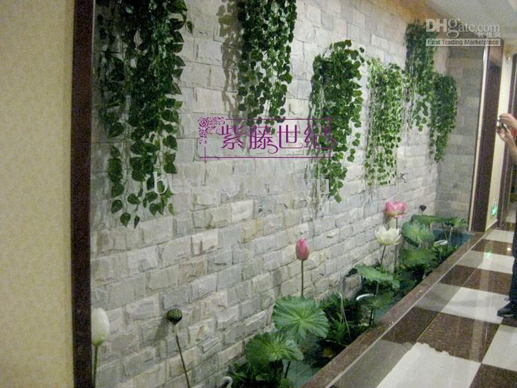 Высокое моделирование плющ восхождение лозы Зеленый лист искусственный шелк Вирджиния Creeper стены украшения домашнего декора бесплатная доставка