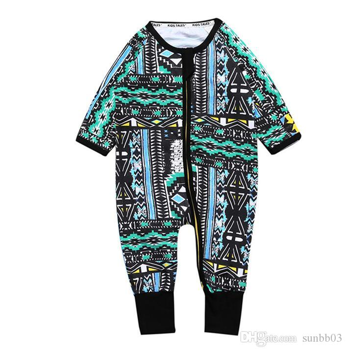 Ins Infant Baby Rompers Boys Girls Babies Onesies Overalls Toddlers Climb Clothes Children Cotton Florals Rompers 13570