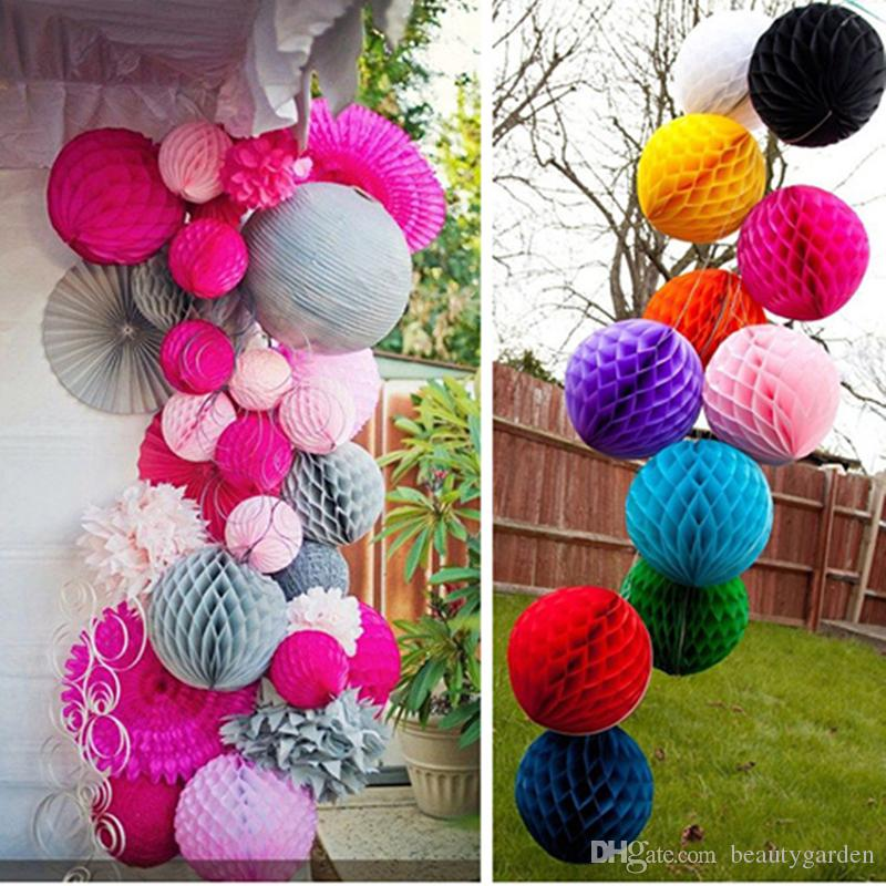 10cm Diameter Paper Honeycomb Flower Ball Handmade Hanging
