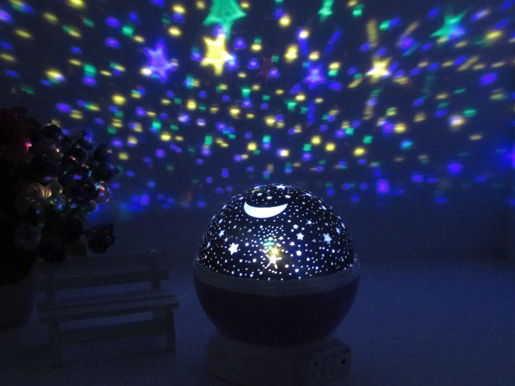 2019 Romantic Rotating Cosmos Star Sky Moon Projector
