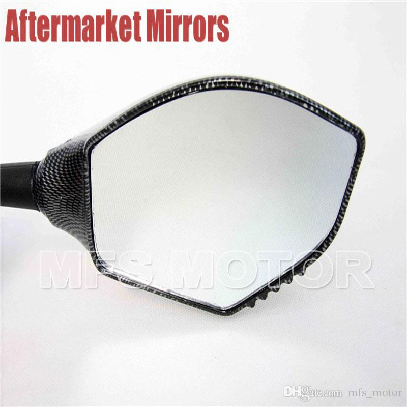 motorcycle parts Integrated Turn Signal Mirror For Kawasaki Ninja 500 1994-2008 ZX7R ZX6R ER6F 636 1998-2004 Z750 ZX9R 1998-2003 Carbon