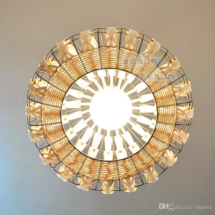 Asie du sud-est rotin ail salle à manger plafond pendentif lumières à la main salle d'étude restaurant salon oignon pendentif lustre luminaires
