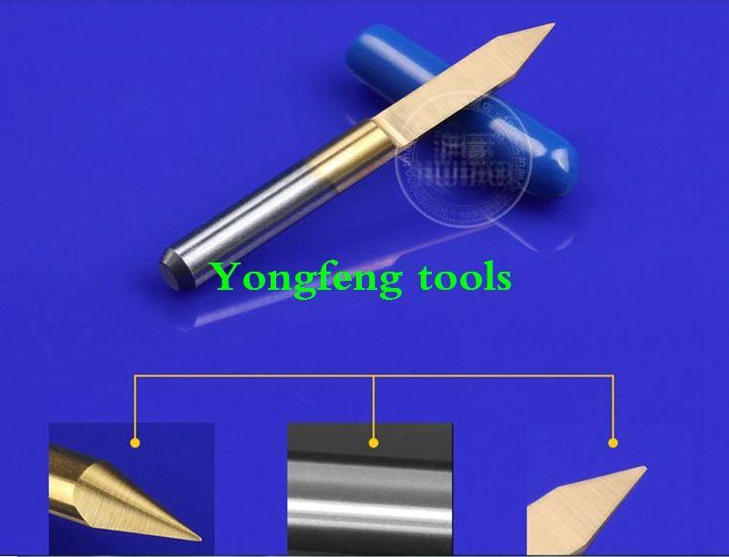TIN coating 20 40 45degree sharp V CNC wood cutter Flat Bottom Engraving Bits router bit