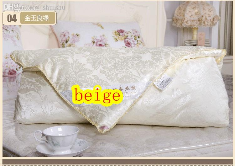 acheter gros fait la main 100 pure couette de soie de. Black Bedroom Furniture Sets. Home Design Ideas