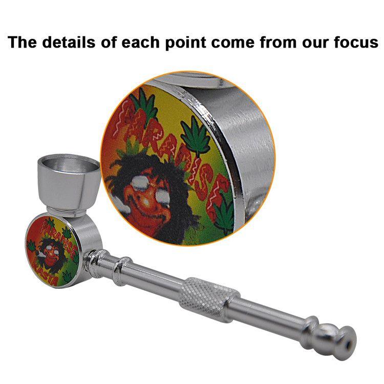 En gros 4 couleurs métal tuyau de brûleur à mazout pas cher fumer pipe à eau barboteur Pyrex brûleur à mazout tuyaux fumer eau main tuyaux