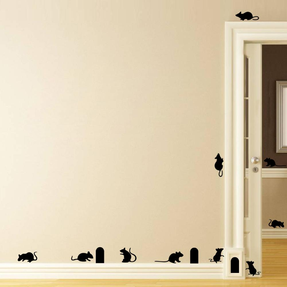 cute mouse hole vinilo wall decal creative rat wall sticker 3d cute mouse hole vinilo wall decal creative rat wall sticker 3d wall mural stairs stickers self adhesive wallpaper eco friendly art kids removable wall