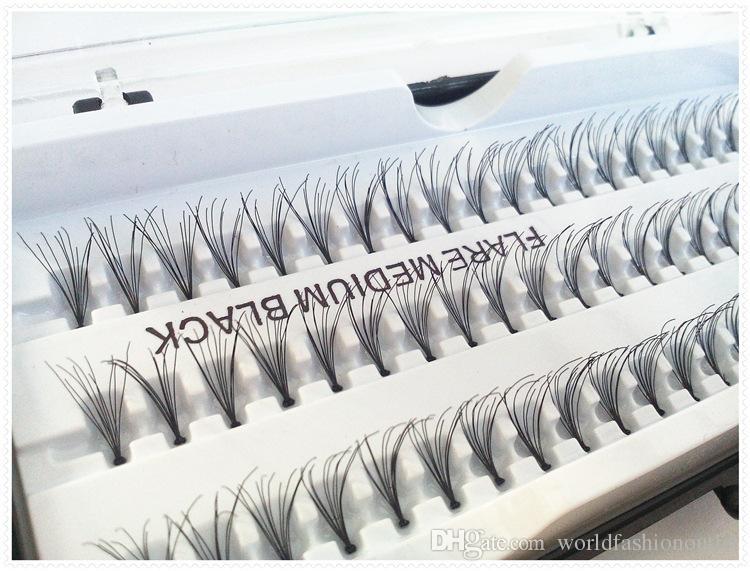 False Eyelashes Natural Individual Lashes Extension Professional Makeup Fake Eyelash Flare Medium Black 60Lashes12mm OEM OBM No Logo