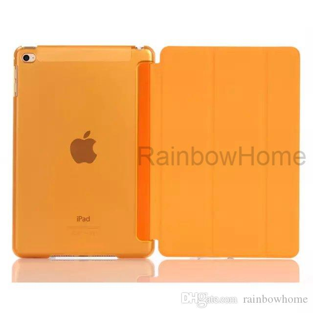 Magnetic Front Smart Cover + Back Plastic Case for iPad mini Air 2 3 4 Pro 9.7 10.5 Folding Clear Cases