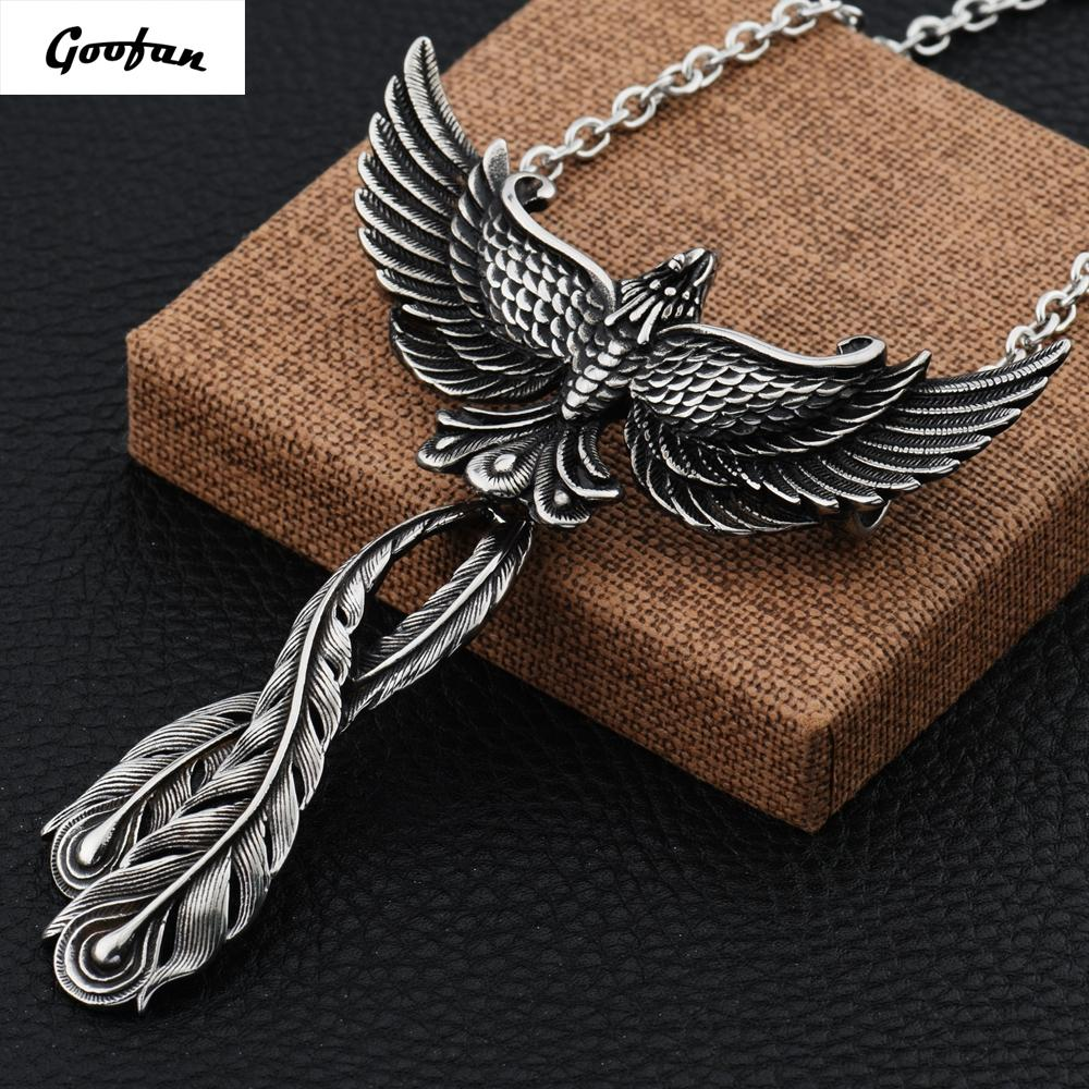 Wholesale 2017 new hiphop goofan large phoenix necklace chinese wholesale 2017 new hiphop goofan large phoenix necklace chinese ancient fire bird pendant stainless steel for men women gift stn843 pendants and necklaces mozeypictures Image collections