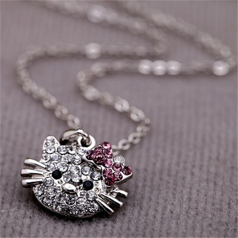 8e6a70062 Wholesale Korean Version Original Single Cute Little Kitty Cat Necklace For Women  Hello Kitty Pendant Necklace For Women Factory Direct Handmade Jewelry ...
