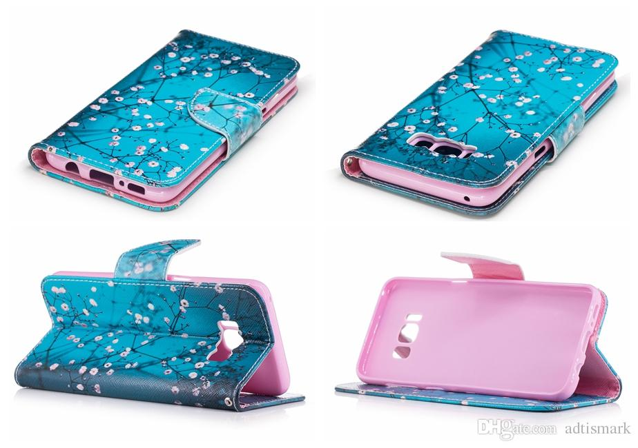 Flip Cover For Samsung Galaxy S5 mini S6 S7 edge S8 Plus Case Luxury Wallet Card Cute Giraffe For Galaxy S5 mini Case