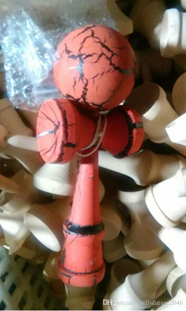 Fashion hot full Crack Paint Kendama Ball Skillful Juggling Game Ball Japanese Traditional Toy Balls Educational Toys