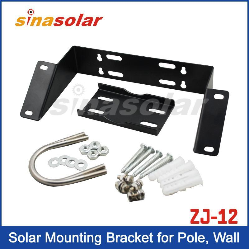 Solar Panel Mounting Bracket For Pole Or Wall With Battery