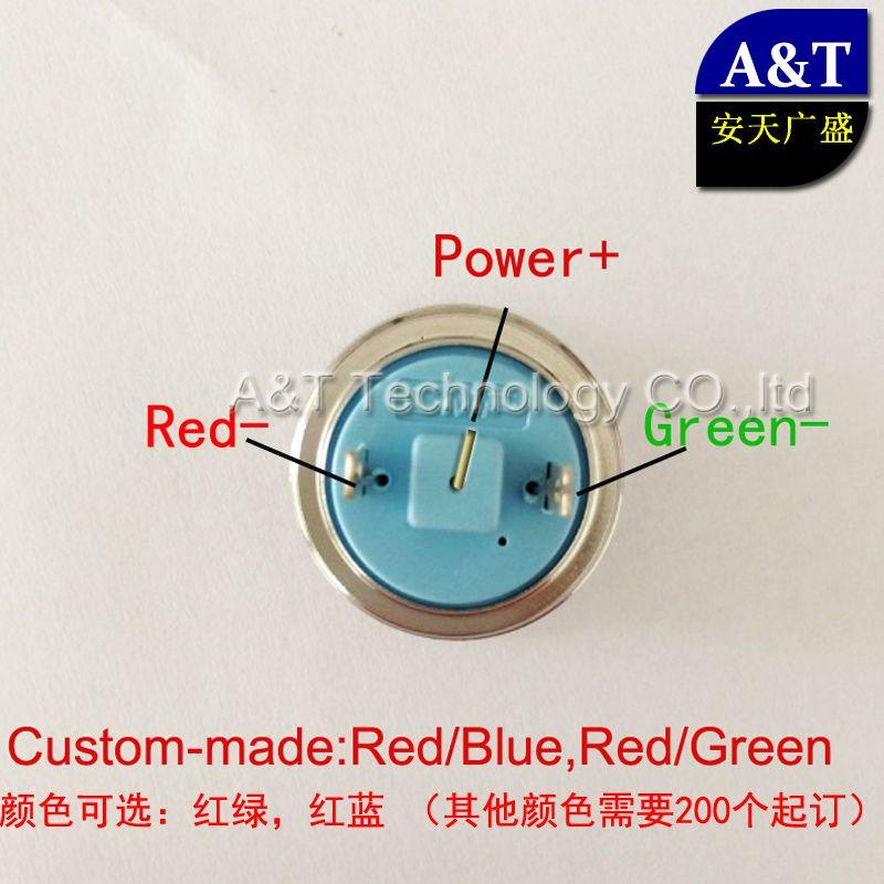 22mm 12V 24V dual color Red/Green Blue led indicator light, metal waterproof IP67 pilot Light ,220V AC/DC led signal lamp