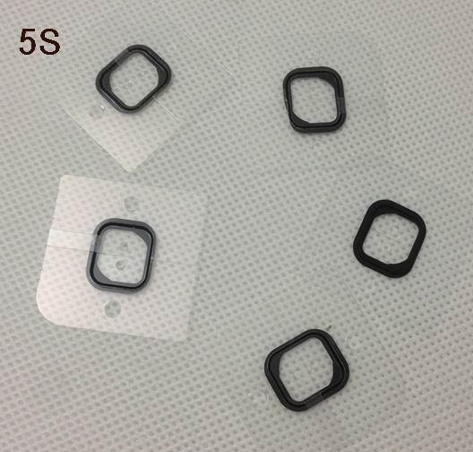 Piezas de repuesto de la junta de goma del tenedor casero del botón para el iphone 5S del iphone 4S / 4GS