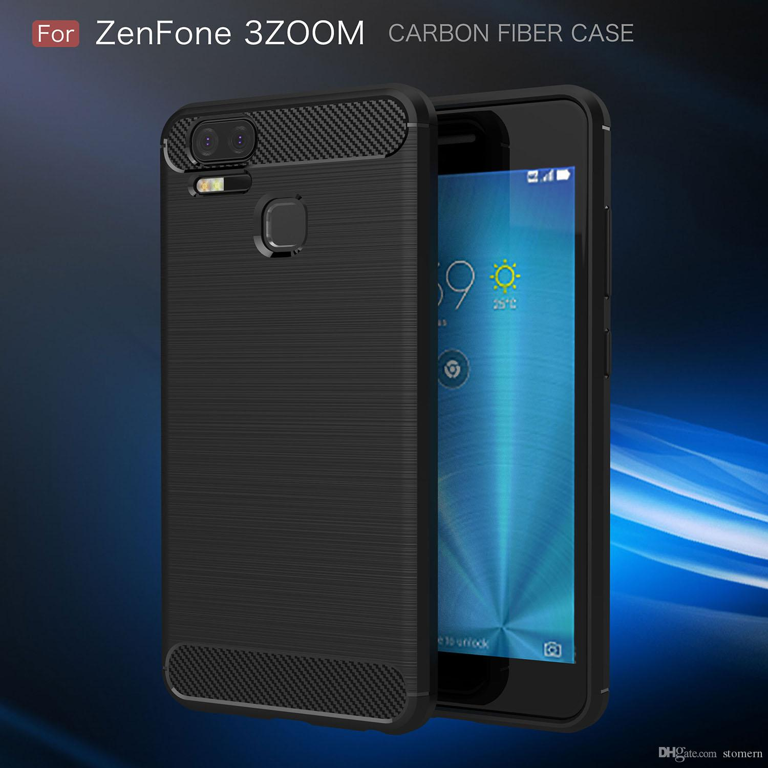 60cdf55f7 Carbon Fiber Case For ASUS Zenfone Live ZB501KL 3S Max ZC521TL AR ZS571KL 3  Zoom ZE553KL Rugged Armor Cover TPU Rubber Back Shell Silicone Cell Phone  Cases ...