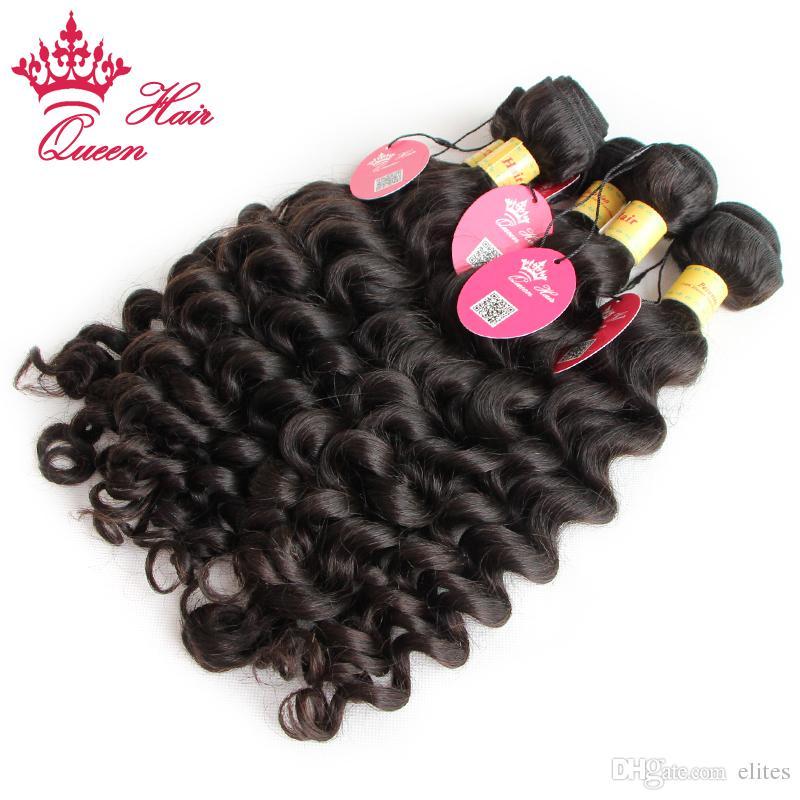 Pelo sin procesar de la Virgen del pelo de la reina más productos de la armadura del pelo humano de la onda / envío libre de DHL