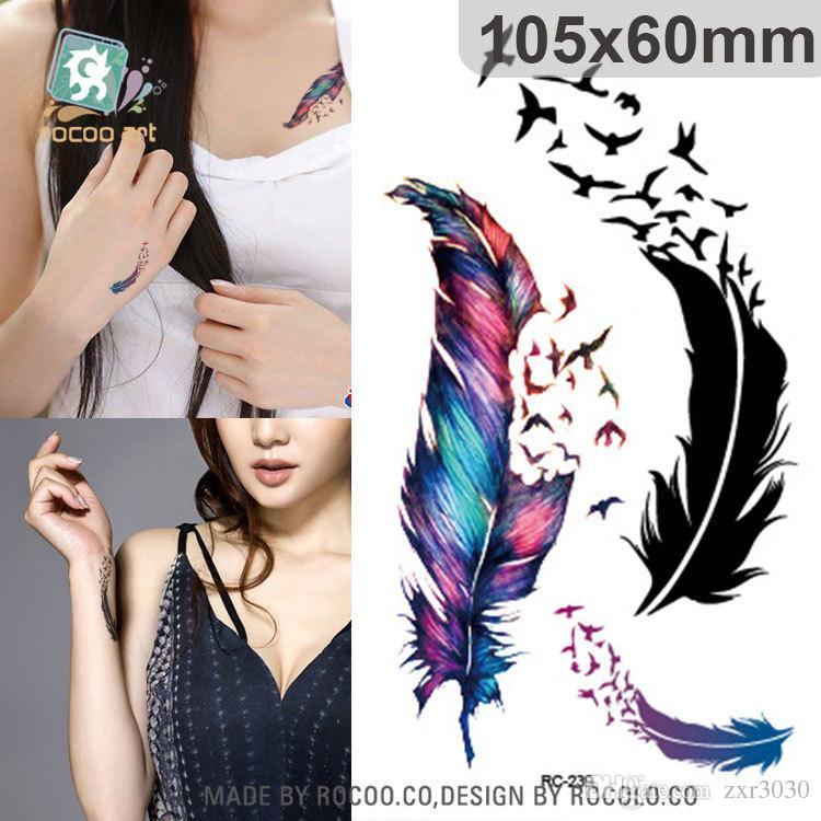 Impermeable Henna Tatoo Selfie Fake Body Tattoo Sticker Colorido Mariposa 3D Tatuaje Temporal Pegatinas Art Flash Tattoo