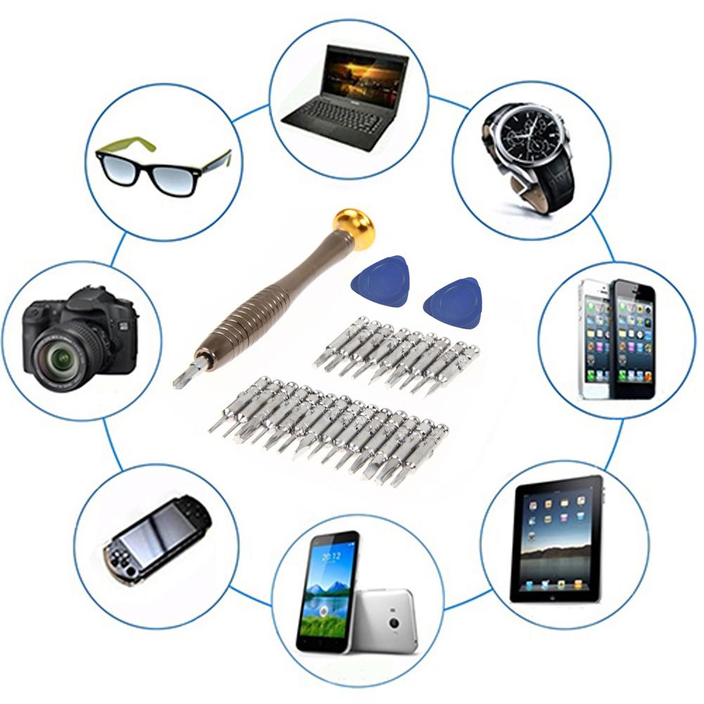 25 in1 Screwdriver Set Opening Repair Tools Kit for iPhone 6 5 iPad Samsung Cellphone Camera Watch Electronics