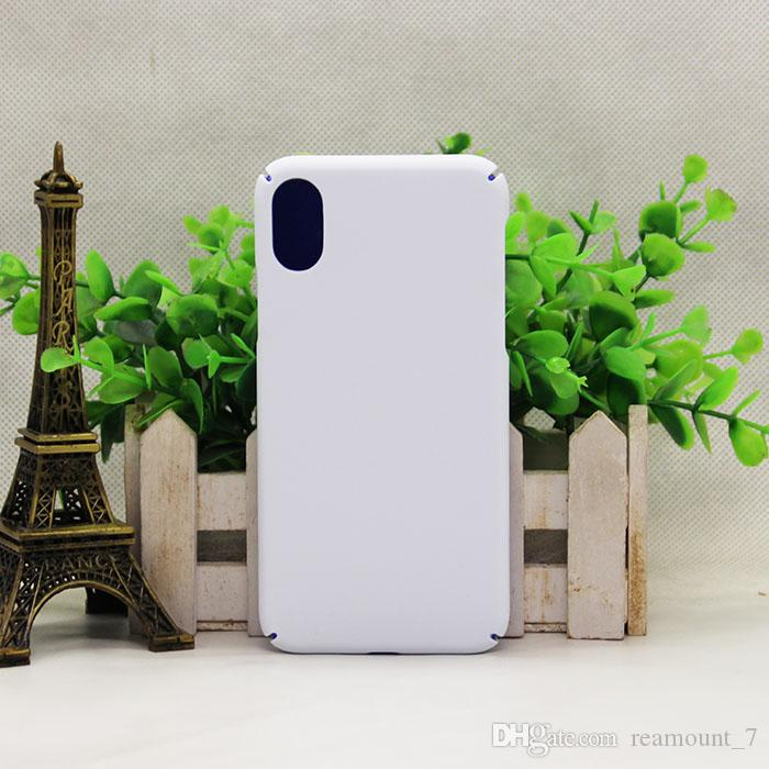 Custom made DIY Design Sublimation 3D Phone Case for iPhoneX 3D White Matte Case Blank Cover for iPhone X