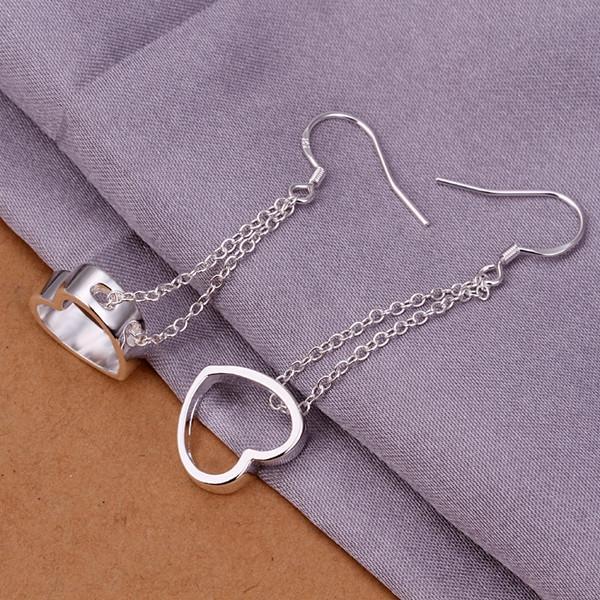 العلامة التجارية الجديدة من الفضة الاسترليني الأقراط لوحة معلقة جوفاء DFMSE346، و 925 الفضة تتدلى الثريا الأقراط النسائية 10 أزواج الكثير المصنع مباشرة