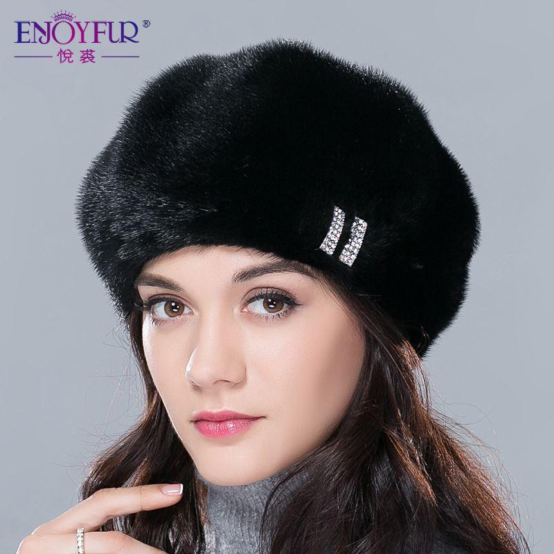 f2e4b8bd289 2019 Real Mink Fur Hats For Winter Women Fur Cap With Diamond 2015 New  Fashion Octagon Mink Fur Beret Russia Good Quality Elegant Hat From  Jack16669