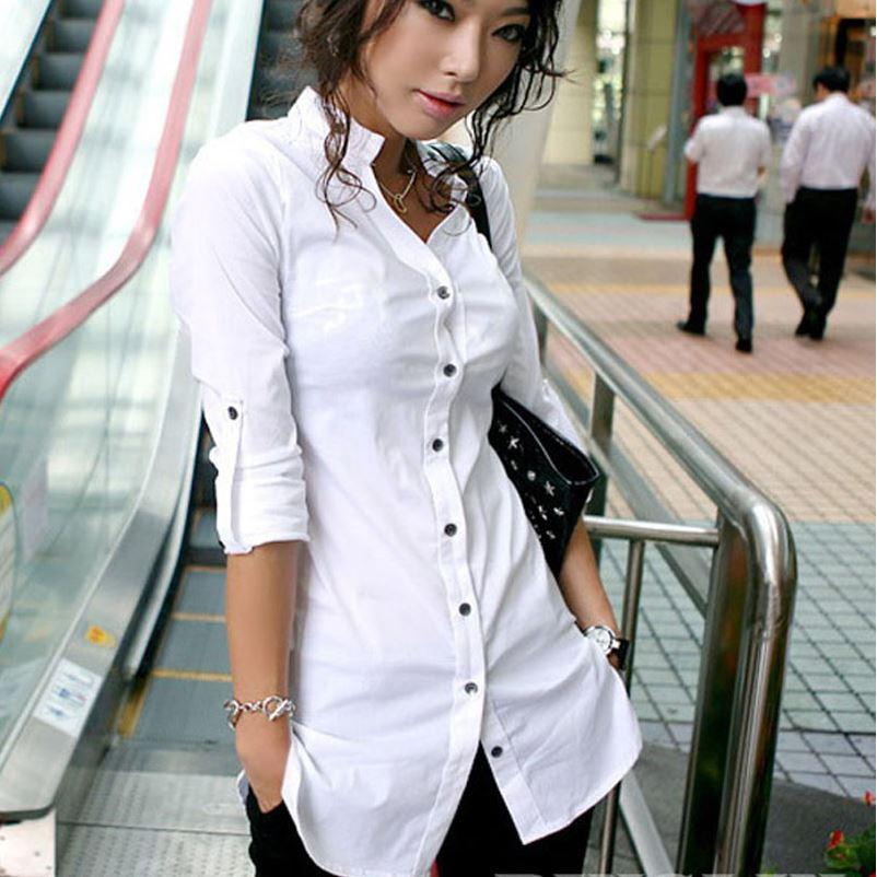 Discount Boyfriend Shirt For Women Wear Work Long Sleeve Button ...