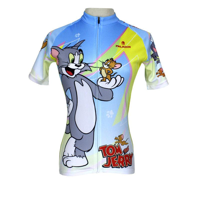 099 Paladin Cat And Mouse Womens Bike Shirt Cycling Clothing