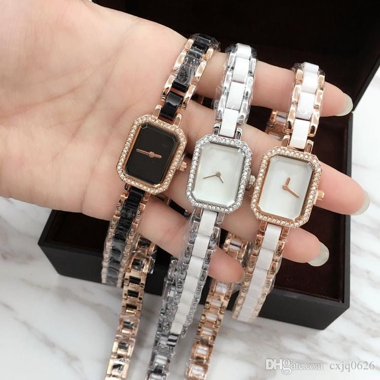 2020 Square casual Women Watch party dress Watches Classic Quartz rose gold top quality Watch Bracelet Wristwatch special style dropshipping