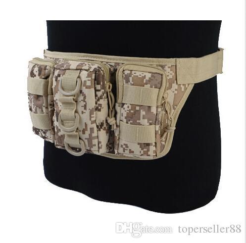 Airsoft Tactical 1000D Molle Utility Conveniente Triplo Esportes Ao Ar Livre Camping ciclismo Cintura Mochila Saco de Pouch Bag