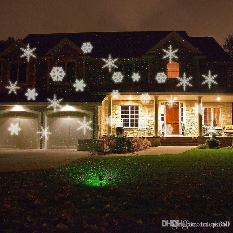 2016 Outdoor Christmas Laser Lights Snowflake Projector Holiday ...