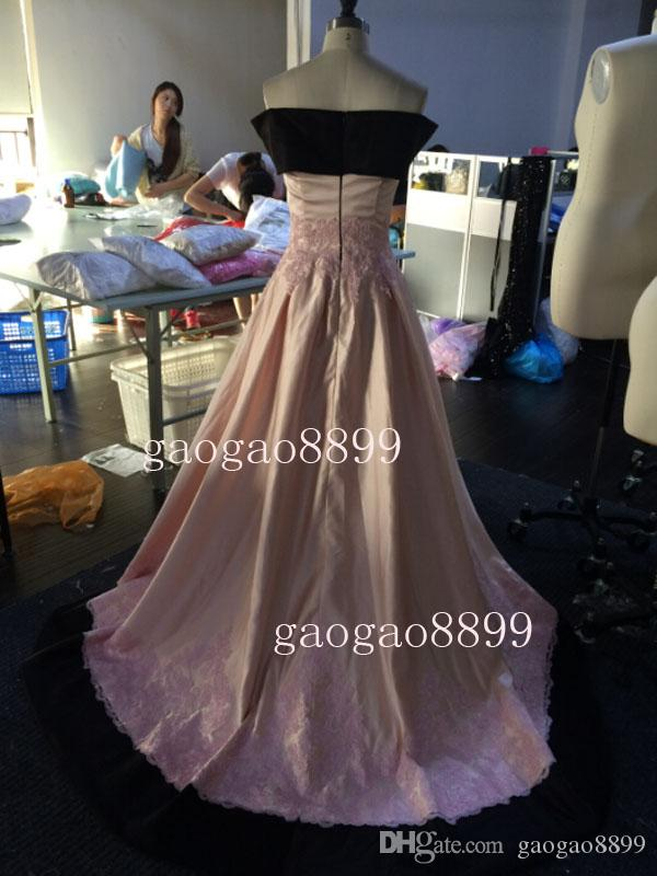 Plus Size Arabic Formal Evening Dresses Off Shoulder Pink Black Lace Appliques Vintage Occasion Bridal Party Mother Gowns 2019 Custom Made