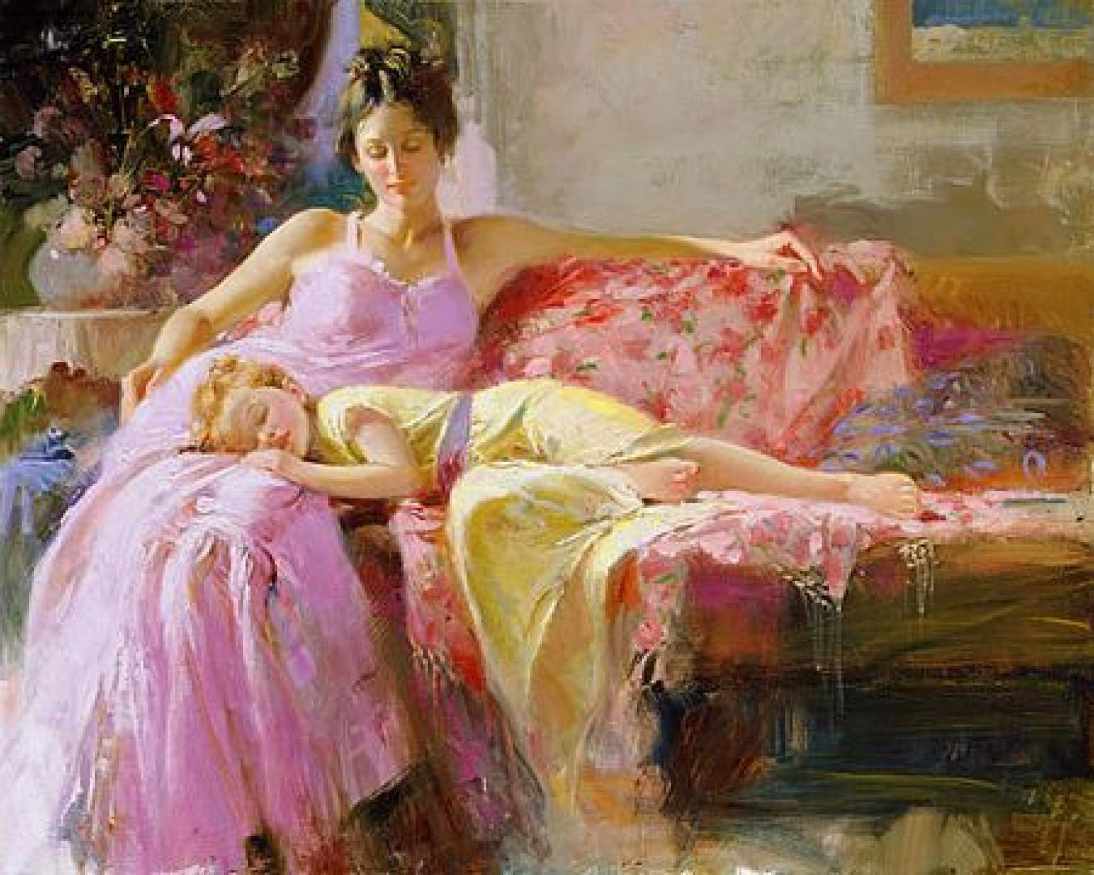 2018 nude painting modern pino daeni 39 s a place in my heart for Painting for sale by artist