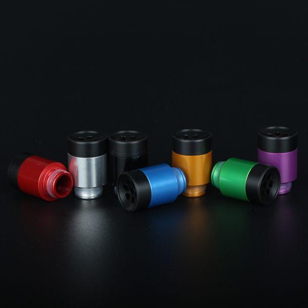 Newest Popular 510 Drip Tip Atomizer Mouthpieces DIY 7 Holes Drip Tips Fit 510 RDA EGO Vaporizers Atlantis Aspire Nautilus E Cigarettes Mods