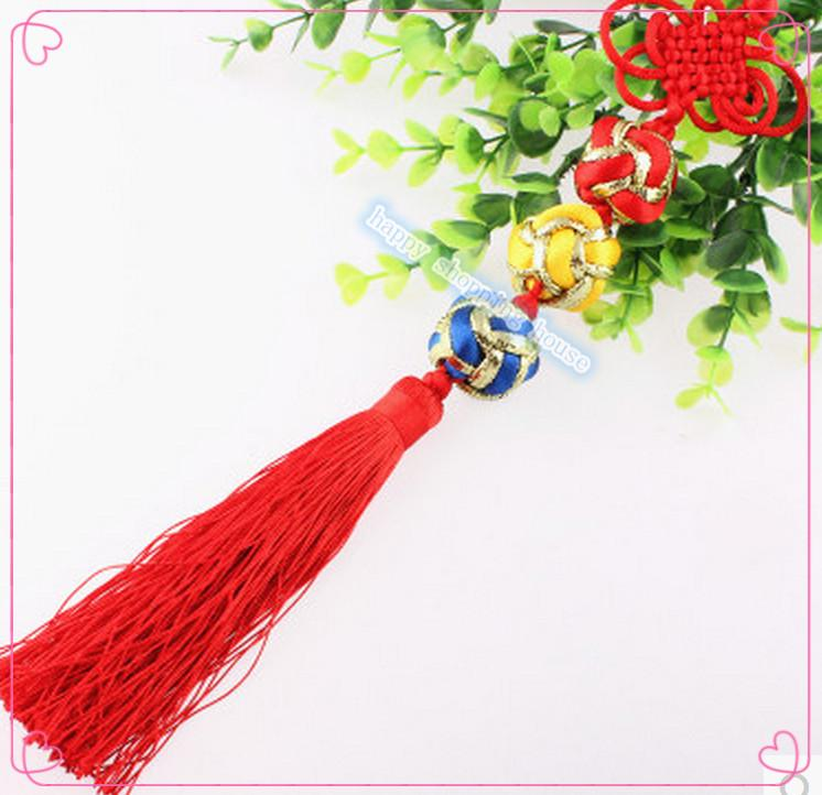 5pcs Free shipping luck ball pendant Acertraditional Chinese tradspring festival China knot craft China node medium shipping wire