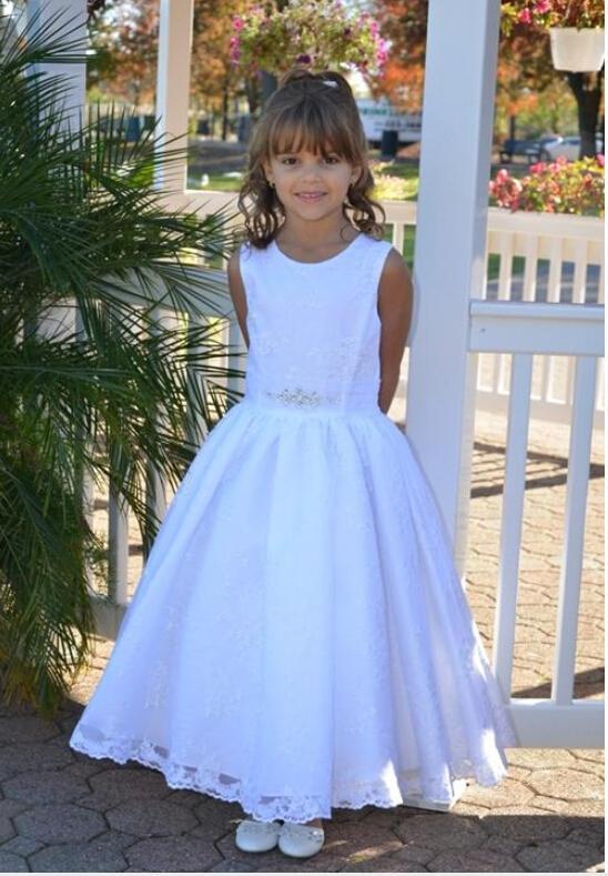 F11 레이스 크리스탈 볼 가운 발목 길이 아기 소녀 생일 파티 크리스마스 공주님 드레스 어린이 소녀 파티 드레스 꽃 파는 아가씨 드레스