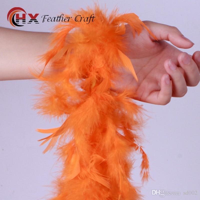 Creative Feather Scarf Two Meters Multi Colors Plume Wrap para Wedding Dance Disfraces Decoraciones Accesorio de vestuario 5xx B