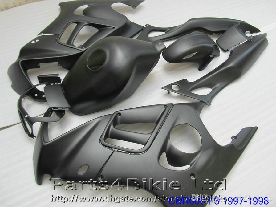 جديد ماتي الأسود للدراجات النارية fairing kit لهوندا cbr 600 f3 CBR600F3 1997 1998 جودة عالية أجزاء fairings CBR600 f3 95 96 dka