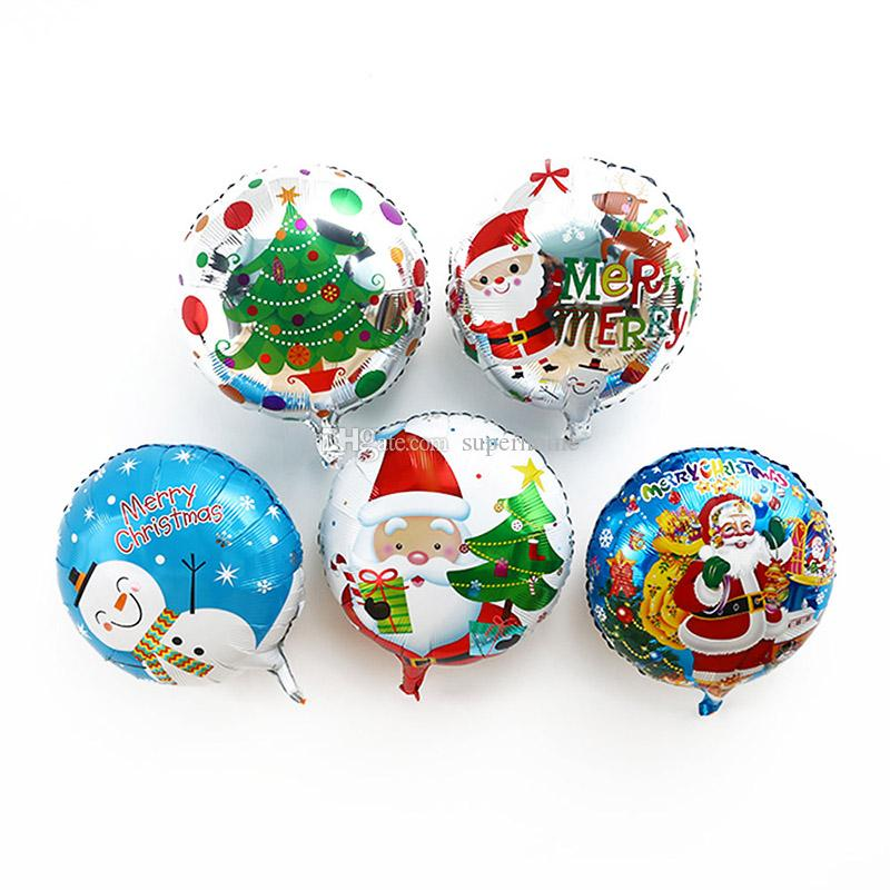 18inch Christmas Balloon 50pcs/bag Foil Helium Balloon Toy Santa Claus Snowman for Birthday Wedding Christmas