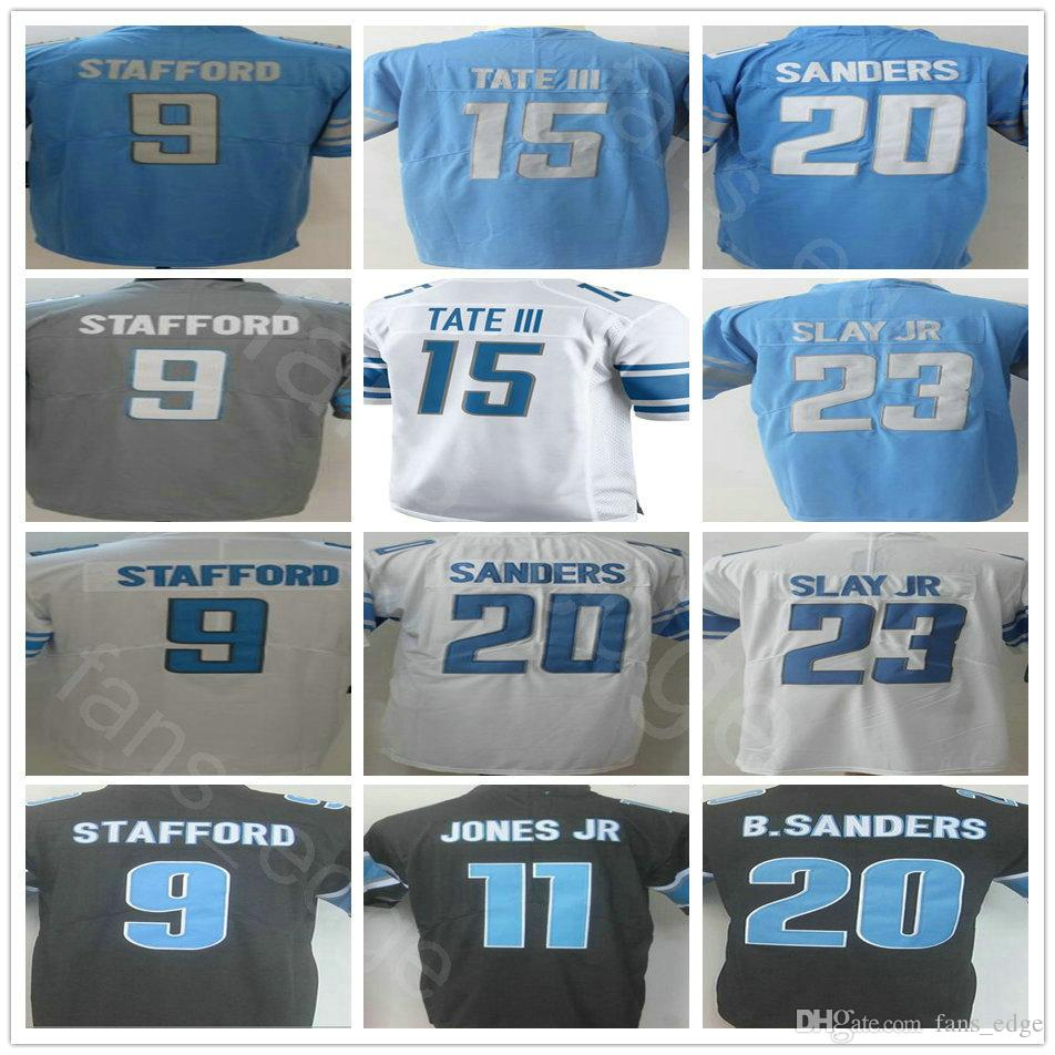 fe5dd6a0d 2019 2018 New  9 Matthew Stafford Marvin Jones 15 Golden Tate III 20 Barry  Sanders 23 Darius Slay Jr Vapor Untouchable Rush Legend Jersey From  Fans edge