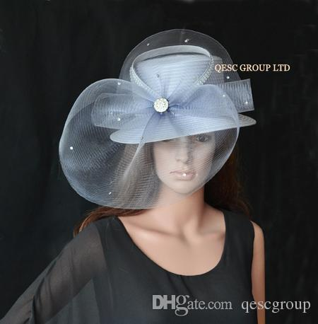 Silver Grey ALL YEAR ROUND Church Hat Formal Hat Kentucky Derby Hat. Church  Hat Sinamay Hat Ladies Hat Online with  48.29 Piece on Qescgroup s Store ... 7bdce8a1cce