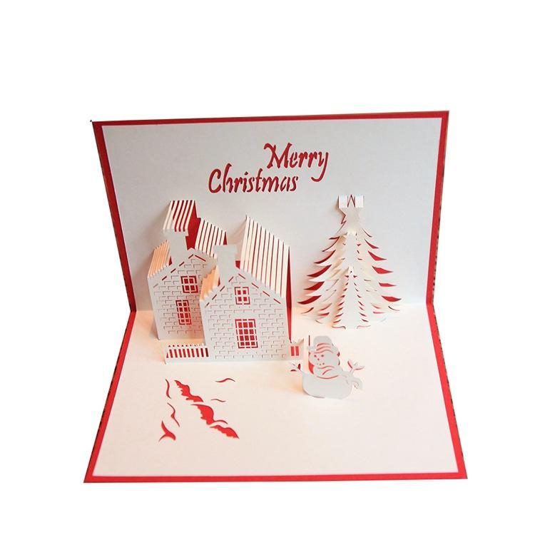 100mm*150mm High Quality Handmade Christmas Castle